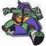 Strygemærke TMNT Donatello 8x8 cm - 1 stk
