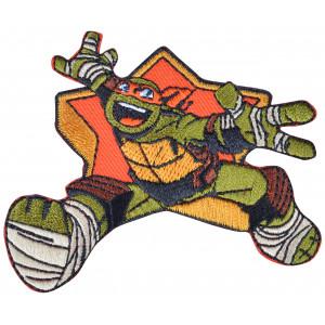 Strygemærke TMNT Michelangelo 7x8,5 cm - 1 stk
