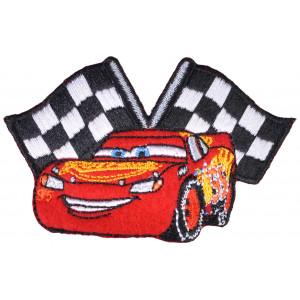 Disney Biler Strygemærke Lynet McQueen Flag 5,5x8,5 cm - 1 stk