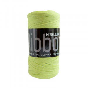 Mayflower Ribbon Stofgarn Unicolor 129 Lime