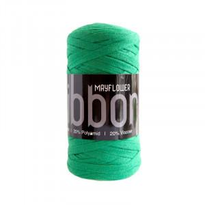Mayflower Ribbon Stofgarn Unicolor 130 Grøn