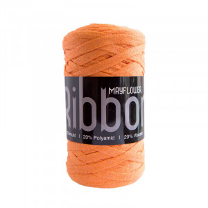 Mayflower Ribbon Stofgarn Unicolor 133 Orange