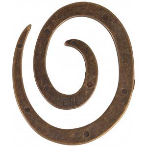 Sjalsnål Spiral Gl. Guld - 1 stk