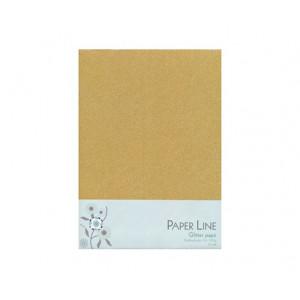 Glitter Papir Guld Dobbelt A4 120g - 10 ark