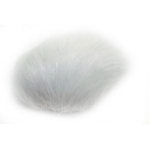 Pompon Kvast Kaninhår Hvid 60 mm