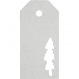 Manillamærker Juletræ Sølv 5x10cm - 15 stk
