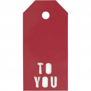 Manillamærker To You Rød 5x10cm - 15 stk