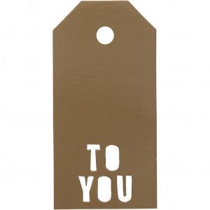 Manillamærker To You Guld 5x10cm - 15 stk