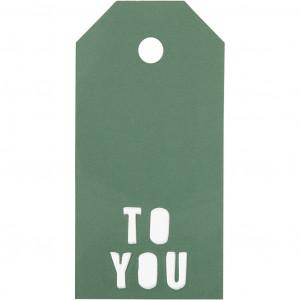 Manillamærker To You Grøn 5x10cm - 15 stk