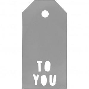 Manillamærker To You Sølv 5x10cm - 15 stk