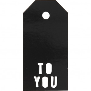 Manillamærker To You Sort 5x10cm - 15 stk