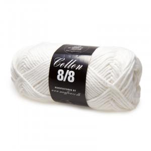 Mayflower Cotton 8/8 Big Garn Unicolor 1902 Hvid