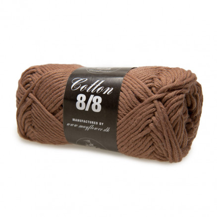 Mayflower Cotton 8/8 Big Garn Unicolor 1905 Nougat thumbnail