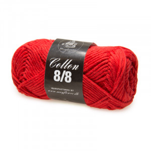 Mayflower Cotton 8/8 Big Garn Unicolor 1916 Postkasse Rød