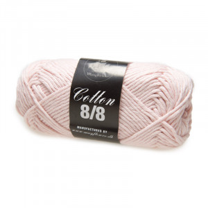 Mayflower Cotton 8/8 Big Garn Unicolor 1925 Pastel Lyserød