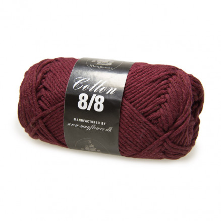 Image of   Mayflower Cotton 8/8 Big Garn Unicolor 1929 Bordeauxrød