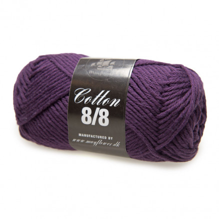 Image of   Mayflower Cotton 8/8 Big Garn Unicolor 1935 Mørk Lavendel