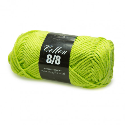 Image of   Mayflower Cotton 8/8 Big Garn Unicolor 1946 Limegrøn