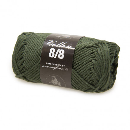 Image of   Mayflower Cotton 8/8 Big Garn Unicolor 1949 Mørk Armygrøn
