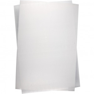 Krympeplast Blank Transparent 20x30cm - 10 ark
