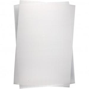 Krympeplast Mat Hvid 20x30cm - 10 ark