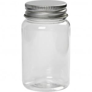 Plastdåse med låg 100ml 7,7x4,5cm - 10 stk