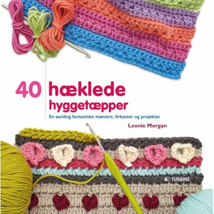 Image of   40 hæklede hyggetæpper - Bog af Leonie Morgan