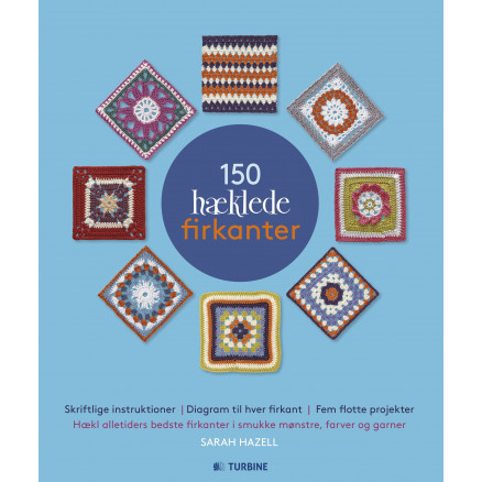 Image of   150 hæklede firkanter - Bog af Sarah Hazell