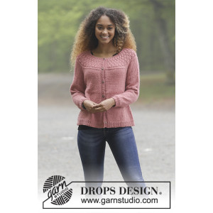 Namdalen Jacket by DROPS Design - Jakke Strikkeopskrift str. S - XXXL