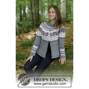 Telemark Jacket by DROPS Design - Jakke Strikkeopskrift str. S - XXXL