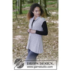 Morgan's Daughter Vest by DROPS Design - Vest Strikkeopskrift str. S - XXXL