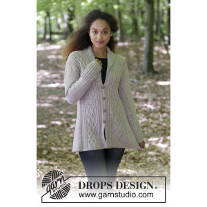 Morgan's Daughter Jacket by DROPS Design - Jakke Strikkeopskrift str. S - XXXL