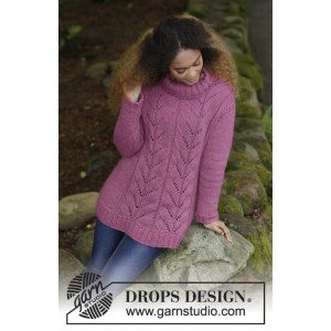 Lotus by DROPS Design - Bluse Strikkeopskrift str. S - XXXL