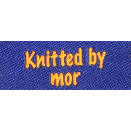 Image of   Label dobbeltsidet Knitted by Mor Marineblå