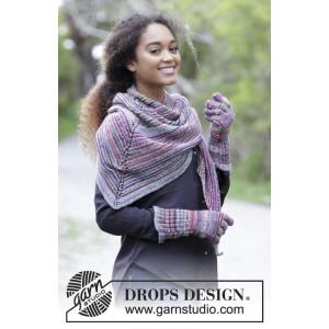 Autumn Joy by DROPS Design - Sjal og Vanter Strikkekit 164x70cm