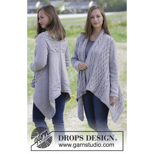 Norfolk by DROPS Design - Jakke Strikkeopskrift str. S - XXXL