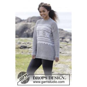 Vintermys by DROPS Design - Bluse Strikkeopskrift str. S - XXXL