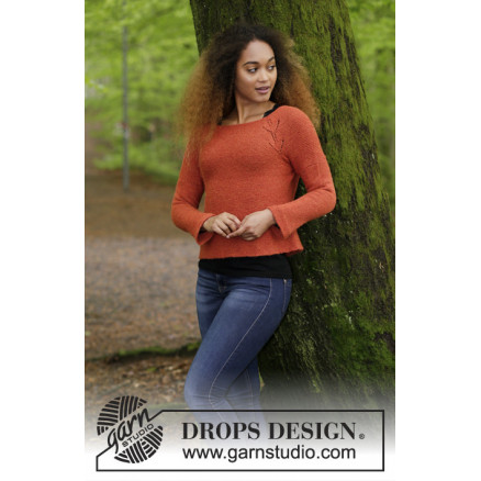 Image of   Autumn Vines by DROPS Design - Bluse Strikkeopskrift str. S - XXXL