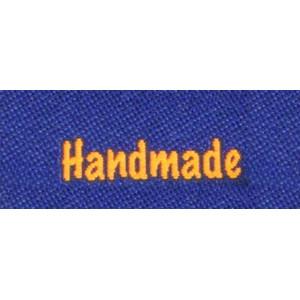 Label dobbeltsidet Handmade Marineblå