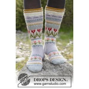 Always Winter by DROPS Design - Sokker Strikkeopskrift str. 35/37 - 44/46