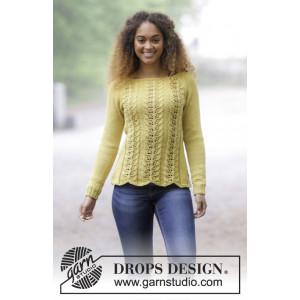 Lemon Parfait by DROPS Design - Bluse Strikkeopskrift str. S - XXXL