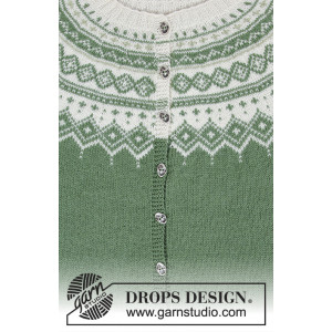 Perles du Nord Jacket by DROPS Design - Jakke Strikkekit str. S - XXXL