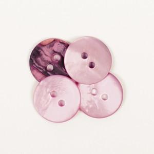 Knap Rund Pink 15mm 622 - 1 stk