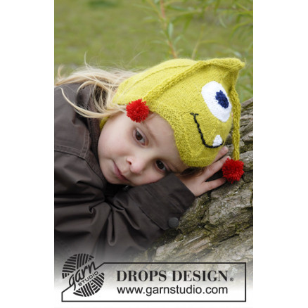 Image of   Eye Smile by DROPS Design - Hue Strikkeopskrift str. 1/3 mdr - 3/4 år