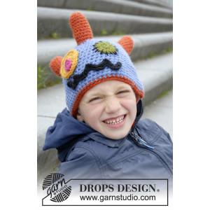 Crazy Eyes by DROPS Design - Hue Hækleopskrift str. 3/5 - 10/12 år