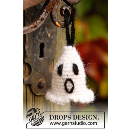 Image of   Casper by DROPS Design - Halloween Pynt Hækleopskrift 4 cm