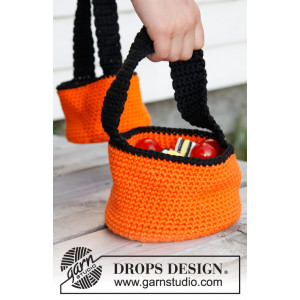 Trick or Treat! by DROPS Design - Halloween Kurv Hæklekit