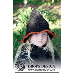 Merlina by DROPS Design - Hat Hækleopskrift str. 3/5 - 10/14 år