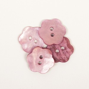 Knap Blomst Pink 15mm 616 - 1 stk