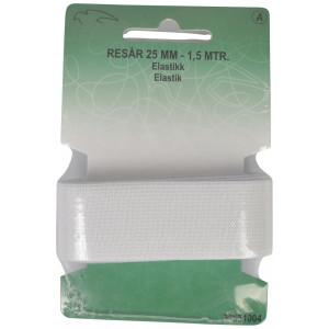 Elastik/Elastikbånd Hvid 25mm 1,5m